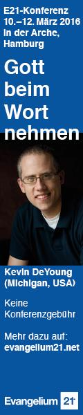 Evangelium21-Konferenz 2016 mit Kevin DeYoung